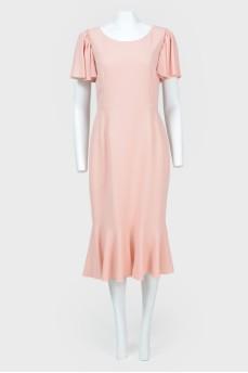Платье с рукавами-воланами с биркой