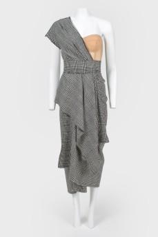 Платье с многоярусной юбкой и корсетом с биркой