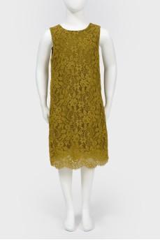 Кружевное платье детское без рукавов с биркой