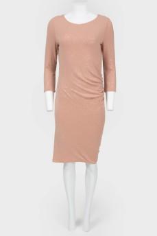 Платье-миди в пайетках