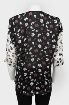 Блуза с регулируемым по длине рукавом с биркой