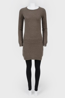 Кашемировое платье средней длины