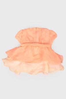Нарядное детское платье с коротким рукавом