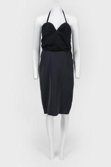 Платье с открытой спиной на молнии