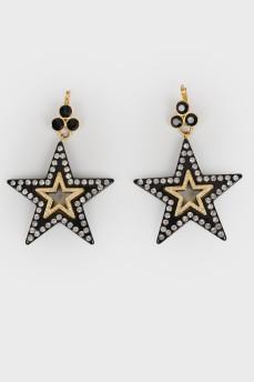 Сережки в форме звезды