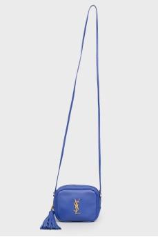 Синяя маленькая сумка без ручек