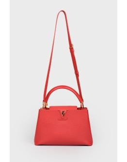 Кожаная сумка с ручкой и плечевым ремешком