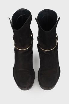 Ботинки на низком ходу с металлической вставкой