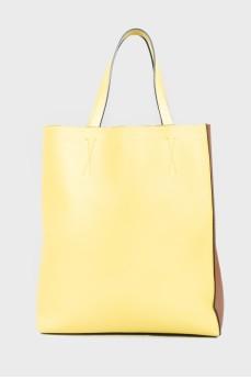 Двухцветная сумка-шоппер