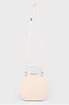 Круглая сумка на плечевом ремне