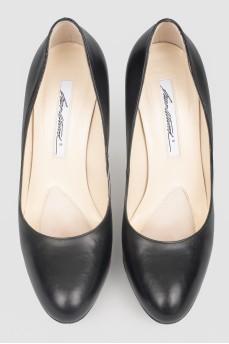 Винтажные туфли кожаные на шпильке