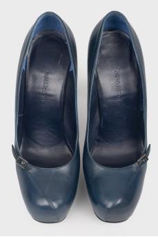 Винтажные туфли на шпильке с пряжкой