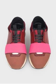 Кеды разноцветные на шнуровке