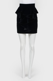 Мини-юбка с пышным воланом