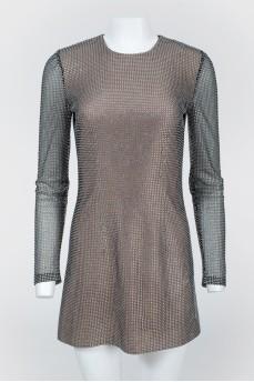 Мини-платье со стразами