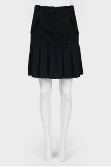 Винтажная юбка со складками и застежкой впереди
