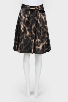 Винтажная юбка в складку с поясом