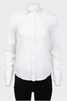 Винтажная рубашка с шелковыми вставками