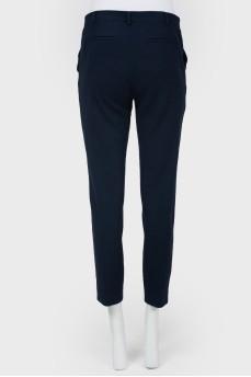 Зауженные брюки высокой посадки