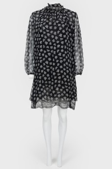 Полупрозрачное свободное платье