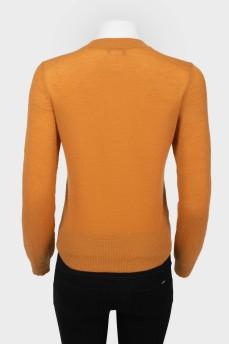 Облегающий свитер с бусинами