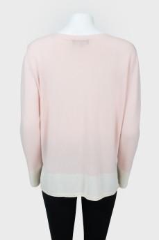 Кашемировый свитер с V-вырезом