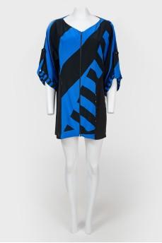 Винтажное мини-платье на молнии