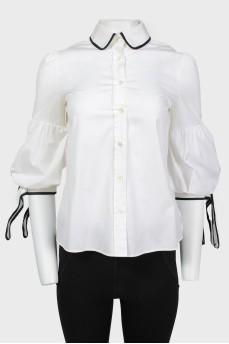 Винтажная блуза с рукавами-фонариками
