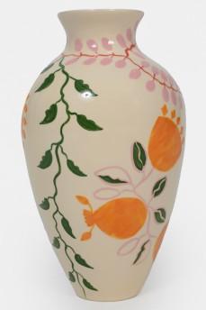 Расписанная керамическая ваза