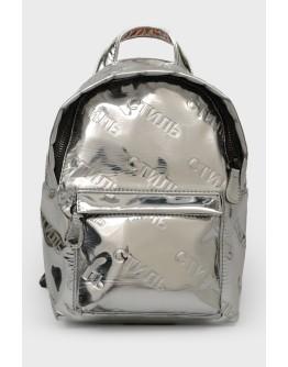 """Серебристый рюкзак """"Стиль"""" на молнии"""
