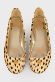 Балетки в леопардовый принт