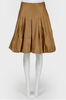 Винтажная юбка расклешенная со складками