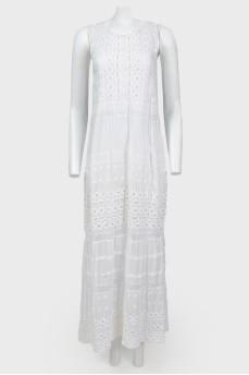 Платье в пол с кружевом