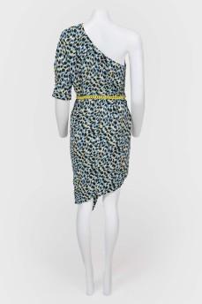 Ассиметричное платье на одно плечо