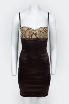 Платье в бельевом стиле на бретельках
