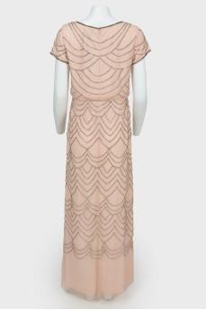 Вечернее платье с бисером  с биркой