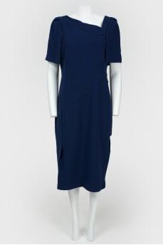 Платье с асимметричным воротом
