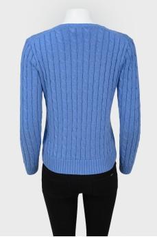 Вязаный свитер с V-горловиной