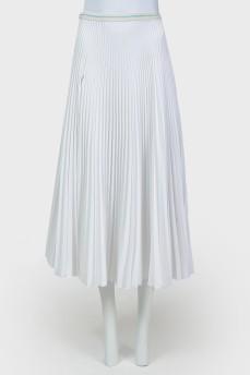 Плиссированная юбка с разрезом