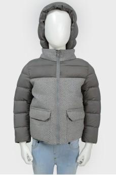 Куртка детская с отстегивающимся капюшоном