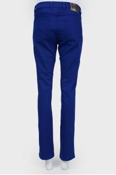 Ярко-синие прямые джинсы