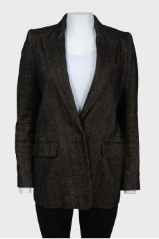 Однобортный пиджак с нагрудным карманом