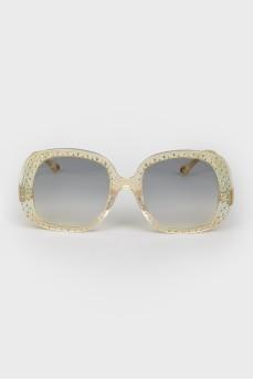 Солнцезащитные очки wayfarer бежевые