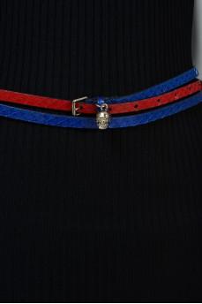 Ремень красно-синий на два оборота