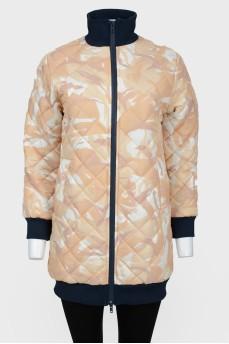 Куртка на молнии с воротником-стойкой