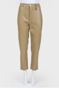 Укороченные брюки высокой посадки