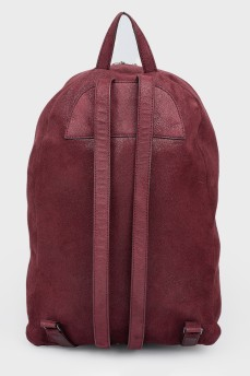 Бордовый рюкзак с металлической цепочкой