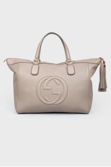 Большая сумка серого цвета
