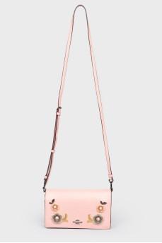 Маленькая кожаная сумочка-клатч