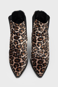 Ботильоны в леопардовый принт